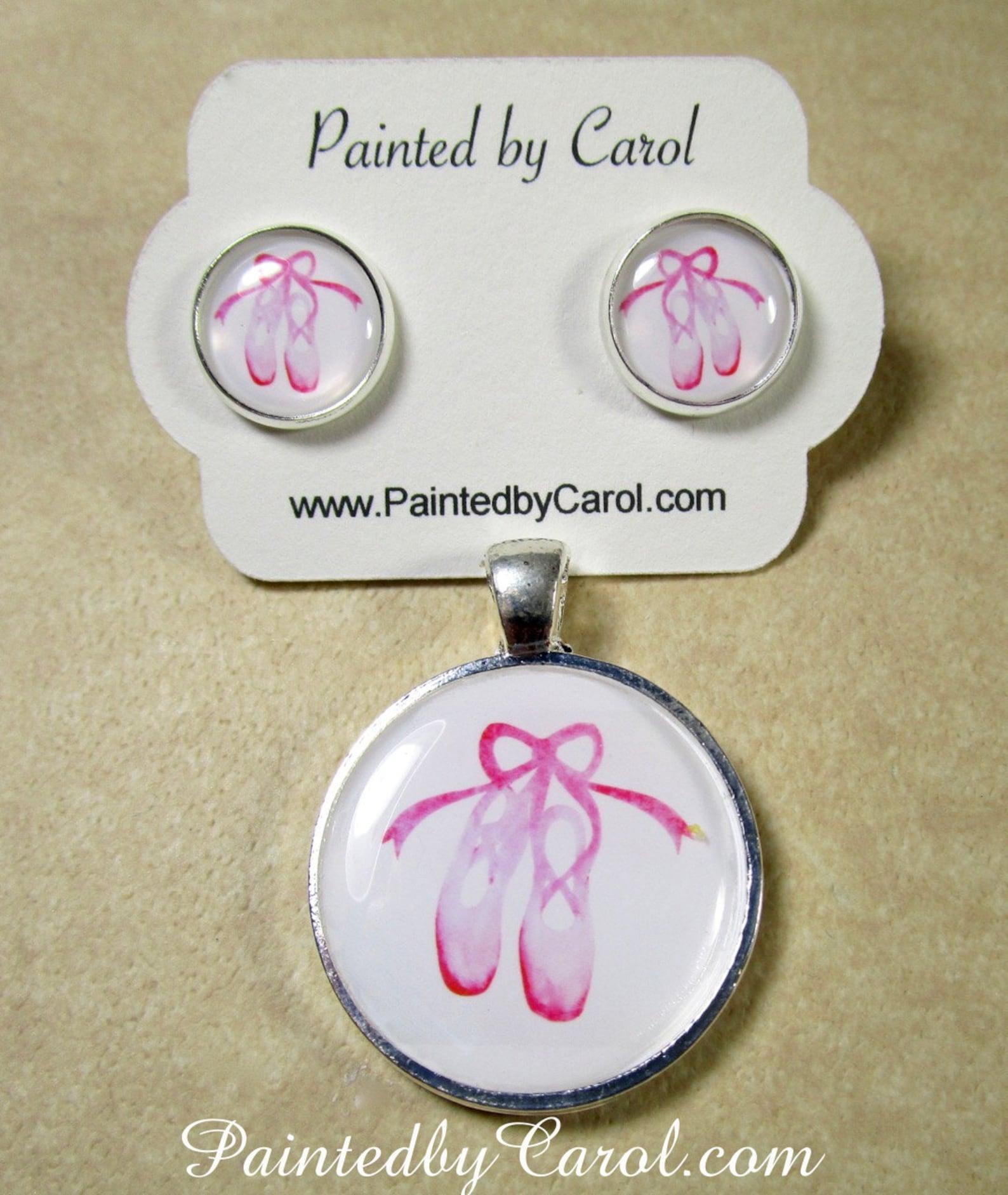 ballet earrings, ballerina jewelry, pink toe shoes studs, dance earrings, dancer jewelry, ballet jewelry, ballerina earrings, gi