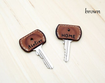 Key Cap Key Cover Home Key Topper Housewarming Gifts Leather House Key Topper