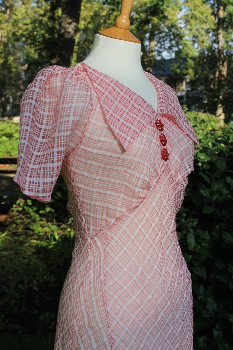 Bessie Mid-1930s inspired day dress in original vintage image 0