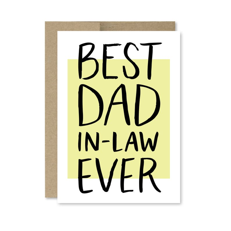 photo relating to Printable Fathers Day Cards known as Printable Fathers Working day Card - Fast Down load - Great Father In just-Legislation At any time - Card for Dad within Legislation - Printable Fathers Working day Card