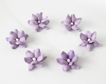 50 pcs - Soft Lilac mulberry paper STARRY ROSES - Wholesale pack
