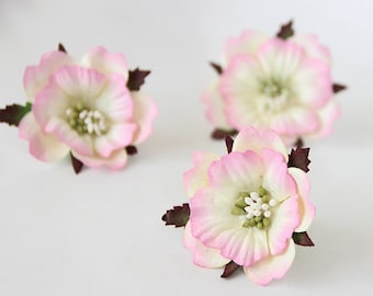 ef8ad5e8604 20 pcs - Soft pink and cream mulberry paper PEONIES - wholesale pack
