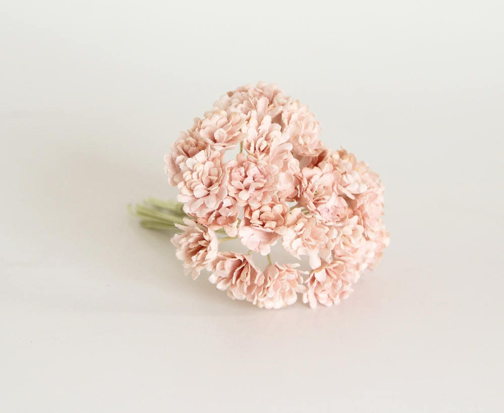 100 Pcs Soft Peachy Pink Gypsophila Paper Flowers Etsy