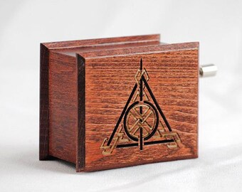 Anniversary Gifts For Boyfriend Harry Potter Deathly Hallows Music Box Mahogany Handmade Wooden