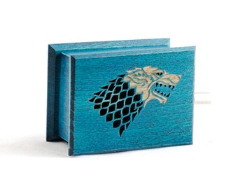 Game of Thrones Stark - The Song of Ice and Fire  music box with melody paper strip