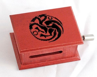 Game of Thrones Targaryen - The Song of Ice and Fire soundtrack  music box with melody paper