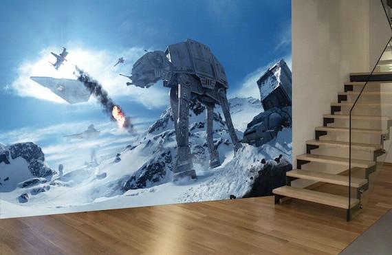 Star Wars Wall Mural Photo Wallpaper Bedroom Children Room Etsy