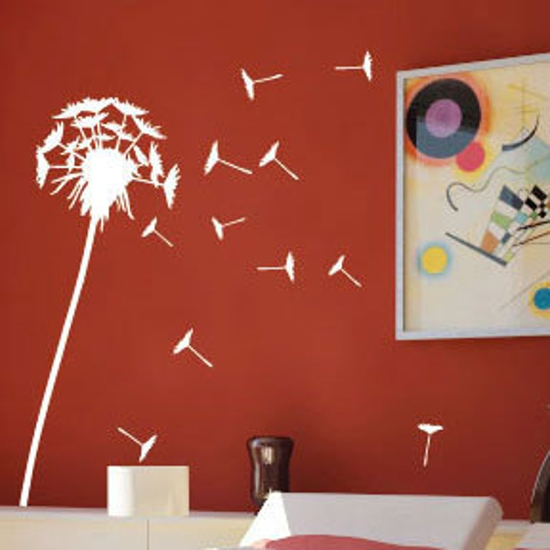 Dandelion Wall Art / Wall Stickers / Wall Decals from   Etsy