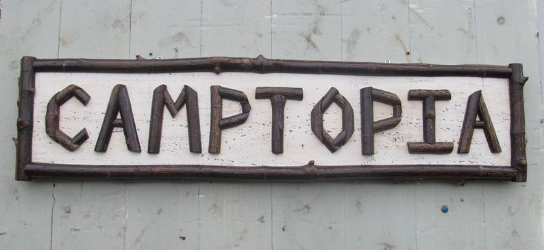 Custom Rustic twig signs Made to order prices vary painted backing Twig  lettering