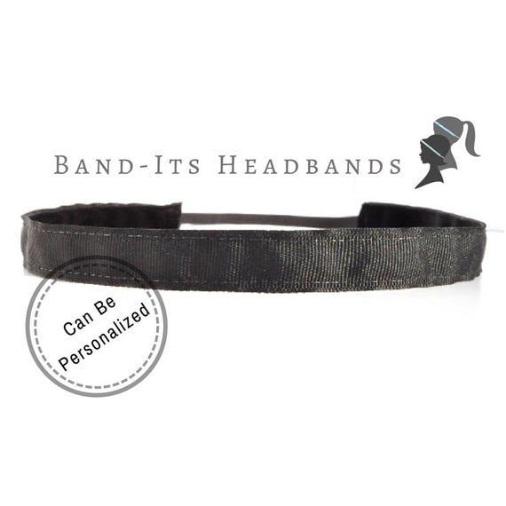 Skinny Black Headband Running Headband Custom Headband  24b5402470a