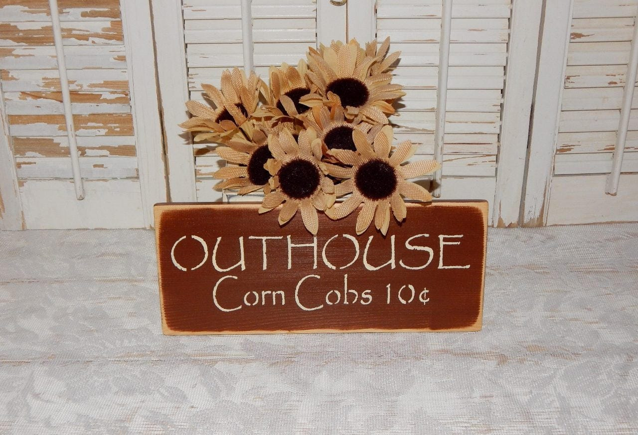 Bathroom Sign Wall Decor Primitive Rustic Country Home