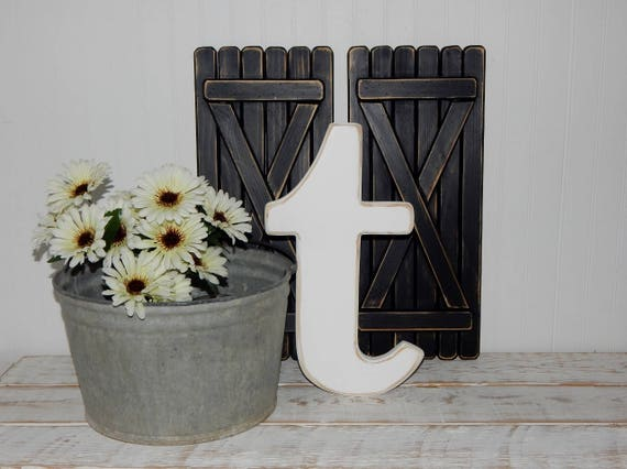 Lowercase Wood Letters Distressed Wooden Letter t Wall Decor