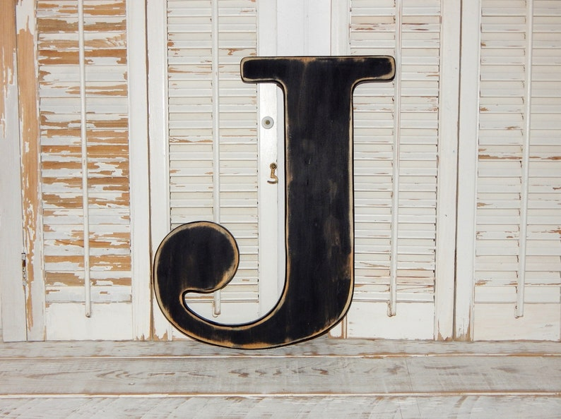 Large Wooden Letter J Or Any Letter Distressed 18 Inch Wood Letters Wall Letters Wedding Guestbook Idea Nursery Decor