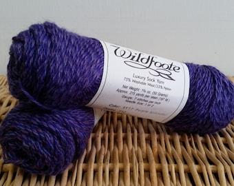 Wildfoote Sock Yarn, Purple Splendor 17, Brown Sheep Wool, Nebraska Yarn