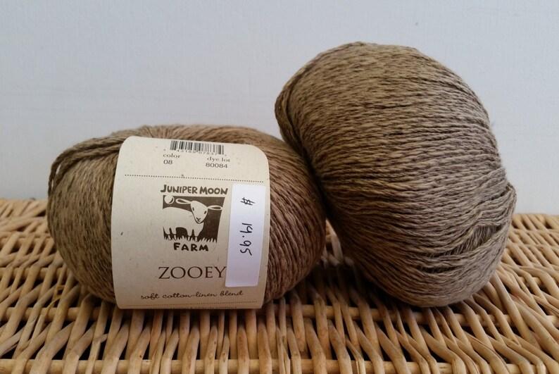 Cotton Linen Fingering Yarn 8 All Spice Zooey by Juniper Moon Farm