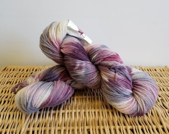 "Worsted Wool Yarn, Handpaint Wool Yarn, Fabrication ""Cherry Cordial"""