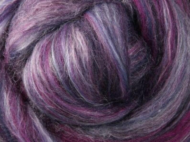 Ashford Merino-Silk Blend Spinning Fiber Black Currant