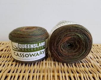 Wool Blend Sock Yarn, Gradient Sock Yarn, Cassowary by Queensland Collection, Rainforest 07