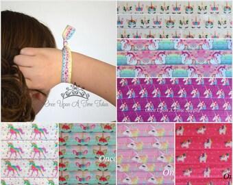 8b55695be4dba4 Eenhoorn haar banden-roze paars fantasie verjaardag afdrukken paardenstaart  houders kleine meisjes tiener volwassen dames vijand band tie-Kies uw  bedrag ...