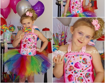 d0fe6427 Sweet Treats Tutu Dress - Deluxe First Birthday Outfit Colorful Candy Shoppe  Cupcake Party Print Tutu Girls Size 12 Months 2T 3T 4T 5 6 7 8