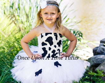 4dbb9b98c66c5 Cow Tutu Dress - Birthday Infant Baby Little Girl - Cute Farm Animal Print  Tutu Girls Size Newborn 3 6 9 12 18 24 Months 3T 4T 5 6 7 8 10 12