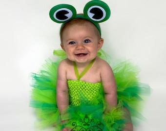 frog tutu dress little girls size newborn 6 12 months 2t 3t 4t 5t 6 7 8 10 12 kids childrens toddler size unique halloween costume