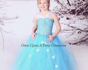 aqua ice princess tutu dress birthday outfit halloween costume 12m 2t 3t 4t 5 6 7 8 10 winter wonderland b day party ready to ship