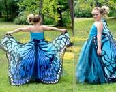 Bright Blue Butterfly Costume, Girls Monarch Butterfly, Toddler Butterfly Costume, Adult Butterfly Skirt, Kids Butterfly Costume Tutu Dress