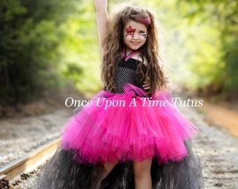 rockstar queen tutu dress birthday outfit photo prop halloween costume girls size 2t 3t 4t 5 6 7 8 10 12 little kids girls dress skirt