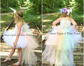 Unicorn Costume, Unicorn Tutu Dress, Kids Unicorn Costume, Pastel Rainbow Unicorn Tutu, Unicorn Birthday Outfit, Little Girl Unicorn Dress
