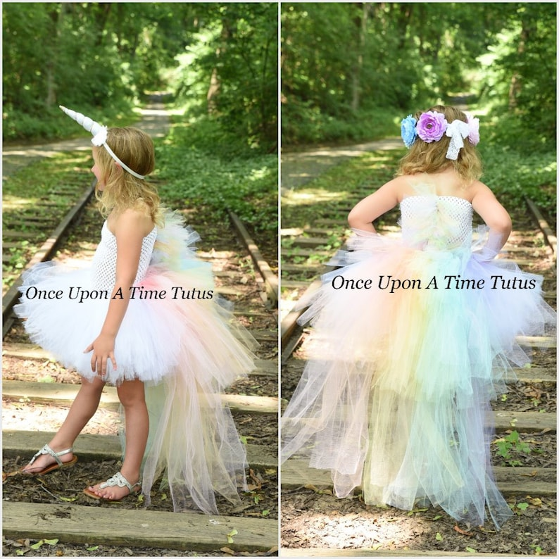 Pastel Unicorn Bustle Tutu Dress Girls Size 6 12 Months 2T  9672f36882eb