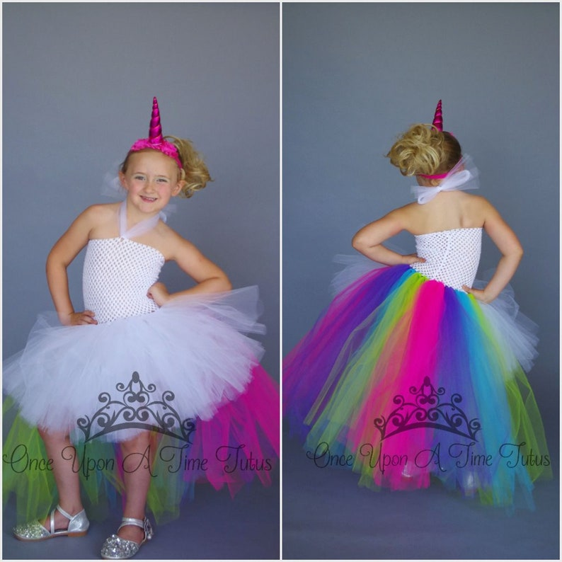 604af6970 Neon Unicorn Queen Tutu Dress or Skirt Birthday Outfit or   Etsy