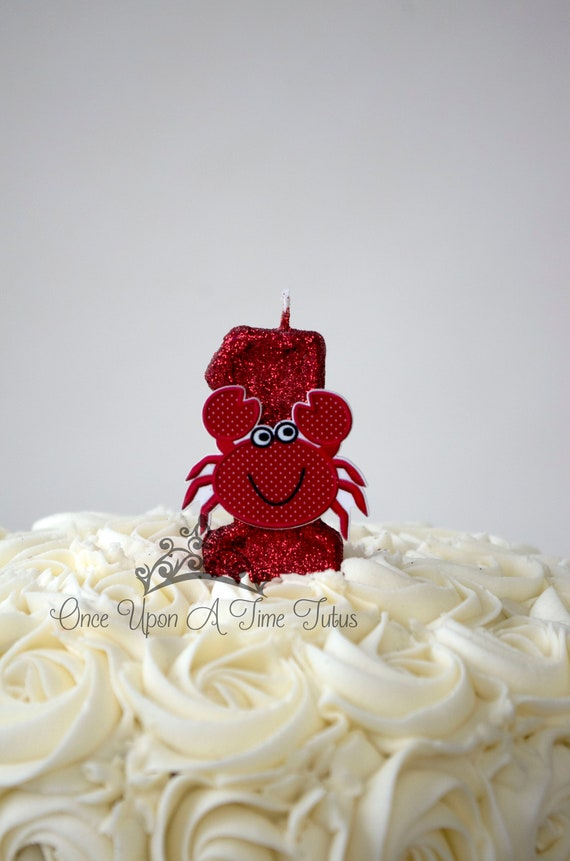 Awesome Red Crab Birthday Candle Red Cajun Food Cookout Birthday Etsy Funny Birthday Cards Online Necthendildamsfinfo