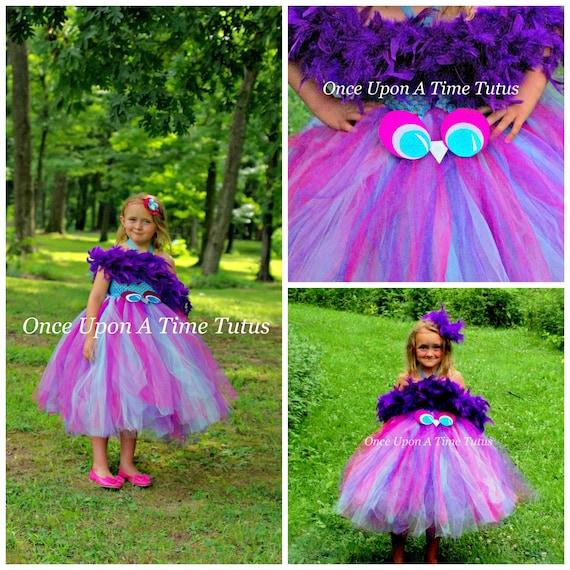 Brown Owl Feather Tutu Dress Girls 3 6 12 18 Months 2T 3T 4T 5 Halloween Costume