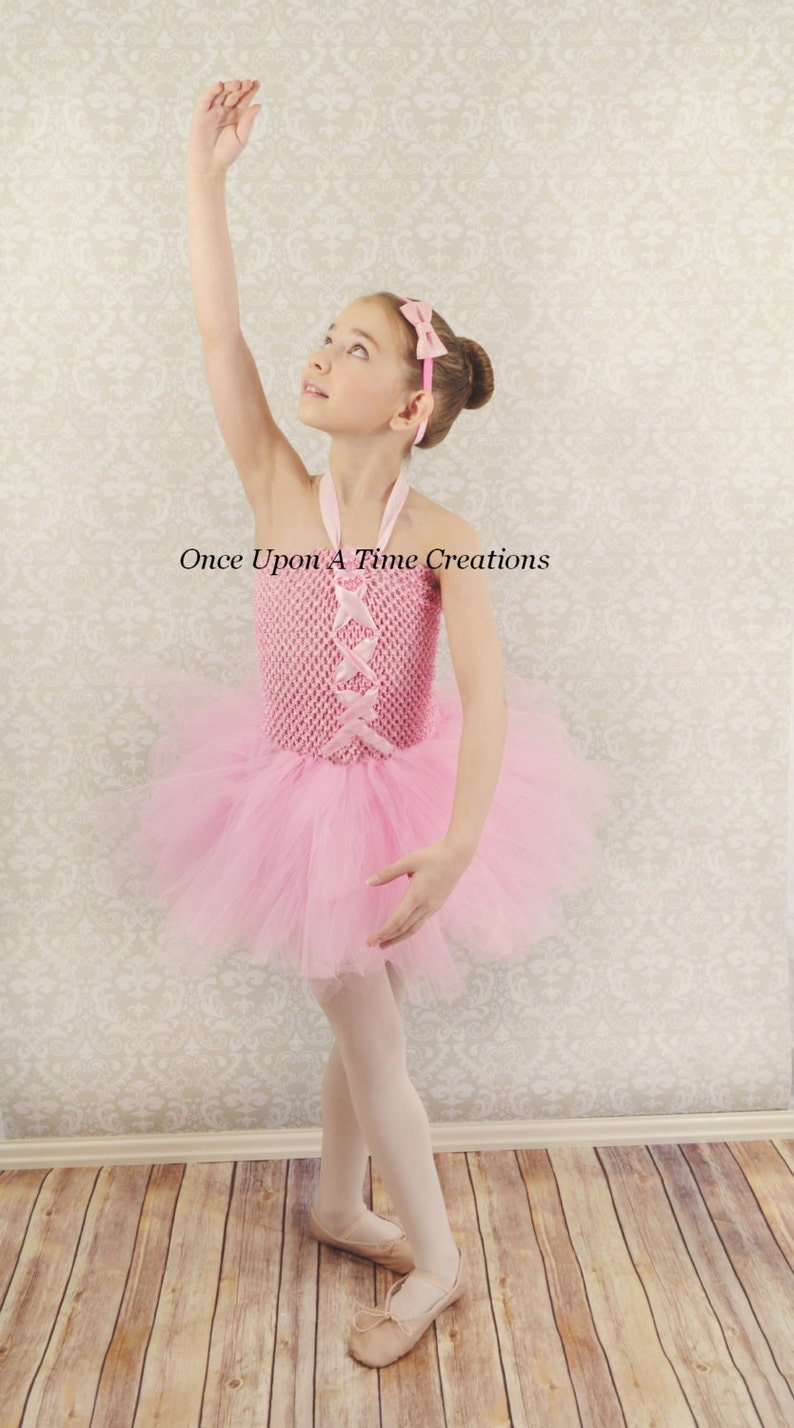 a72a3c9f32b0 Ballerina Pink Tutu Dress Spring Birthday Halloween