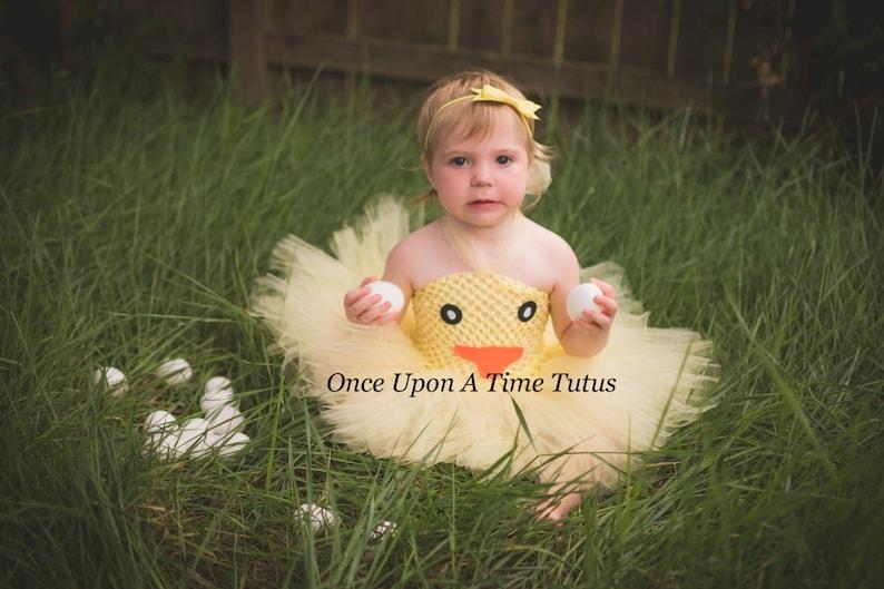 7f44f6e25e1 Yellow Duckling Chick Tutu Dress Newborn 6 12 Months 2T 3T 4