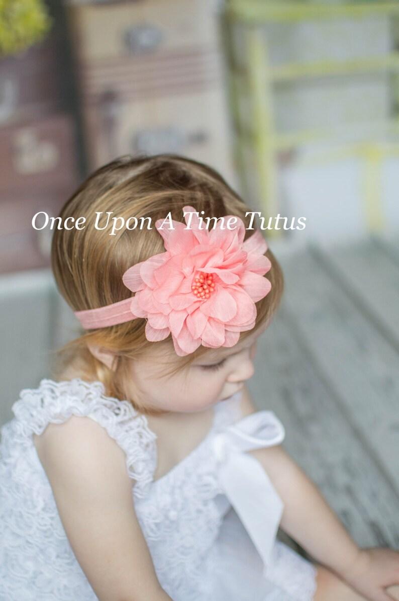 Easter Egg Shabby Flower Newborn Headband Baby Girl HairBow Pastel Spring Bow
