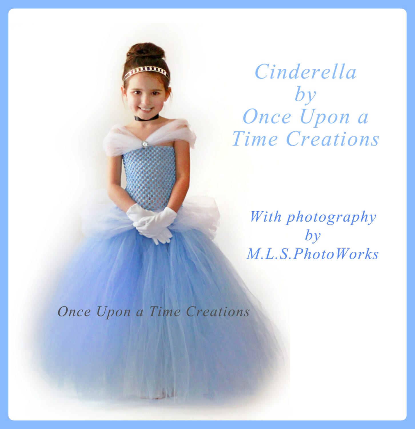 New Nip Disney Baby Girls Halloween Cinderella Costume 6: Blue Fairy Tale Princess Tutu Dress Birthday Halloween