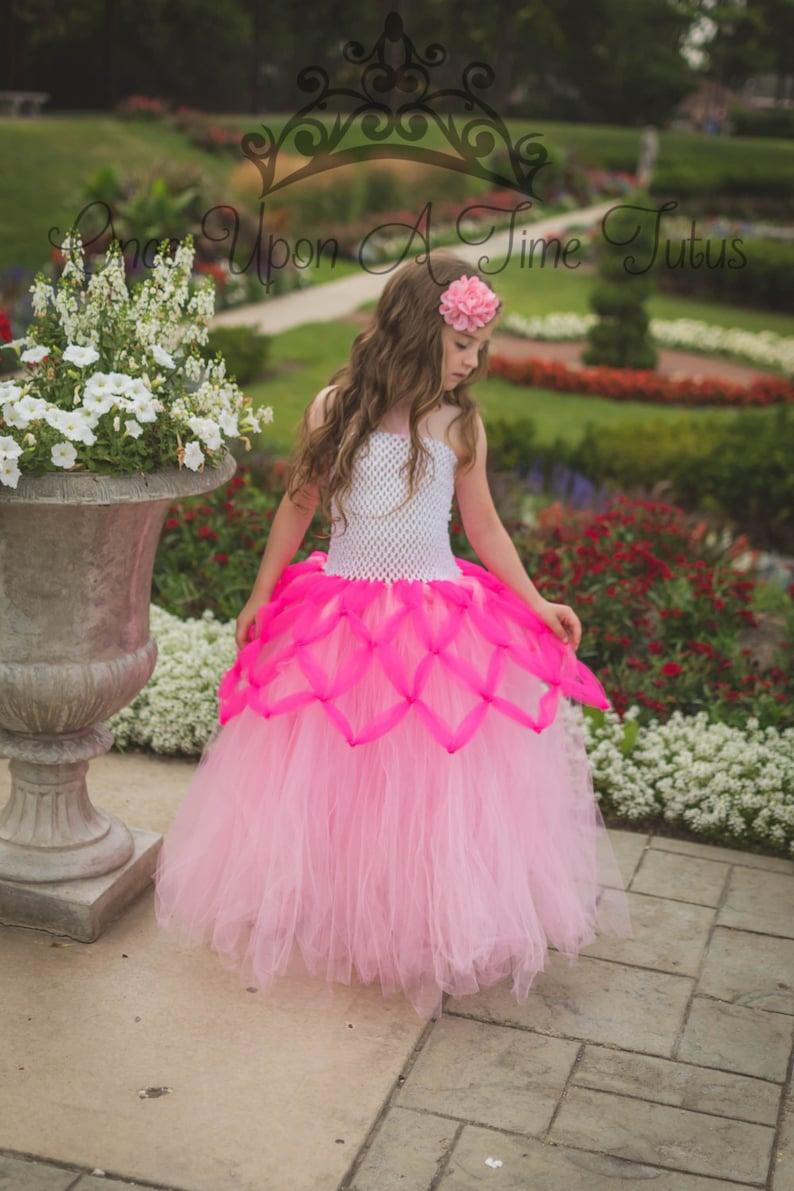 12M 2T 3T 4T 5T Halloween Costume Pink Fairytale Princess Little Girls Dress