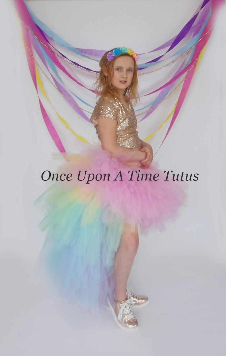 Unicorn Costume Girls Tutu Baby Girls Tutu Adult Unicorn Tutu Kids Tutu Pastel Rainbow Tutu Halloween Costume High Low Tutu Skirt