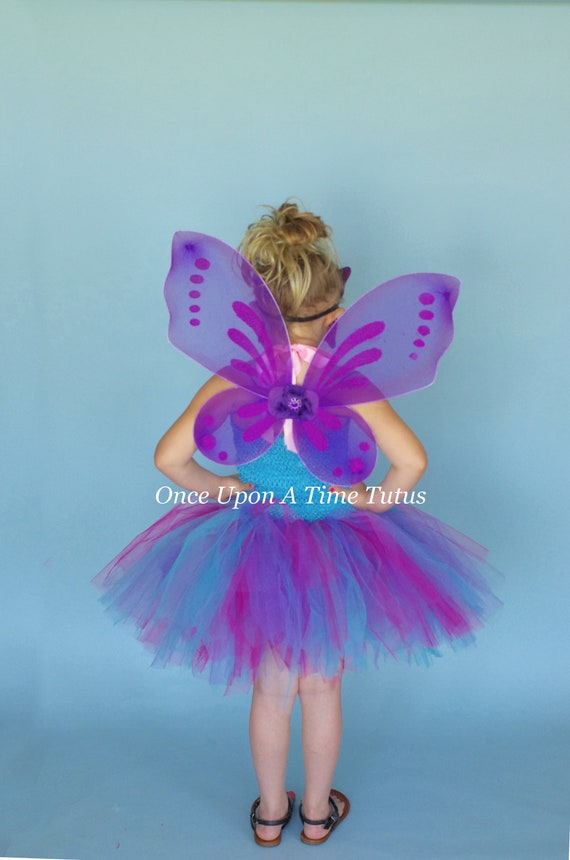 """Adult Multi Color Pixie Butterfly Fairy 21/"""" Wings Dress Up Girls Costume"""