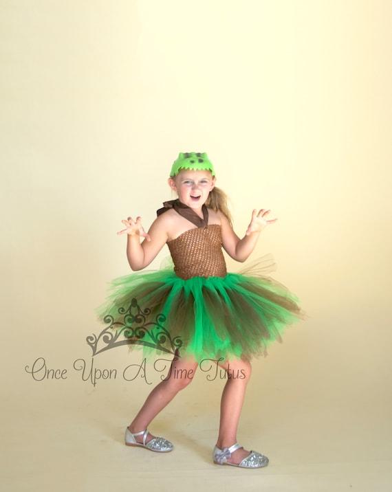 Kid Birthday Outfit Green Brown Kids Dino Dinosaur Halloween Costume Girls Dinosaur Tutu Dress Toddler Girls Costume Halloween Costume