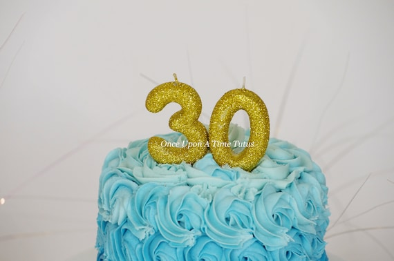 Choose Any Two Numbers Gold Glitter Birthday Candles