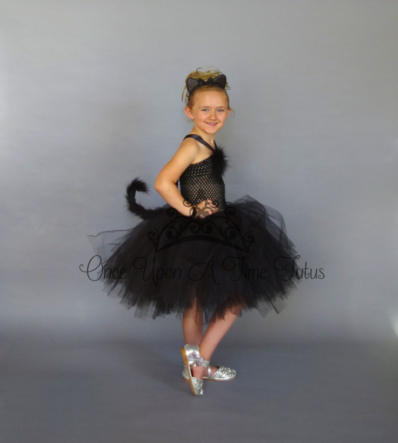 8873298dc Black Cat Tutu Dress Birthday Outfit Halloween Costume Baby