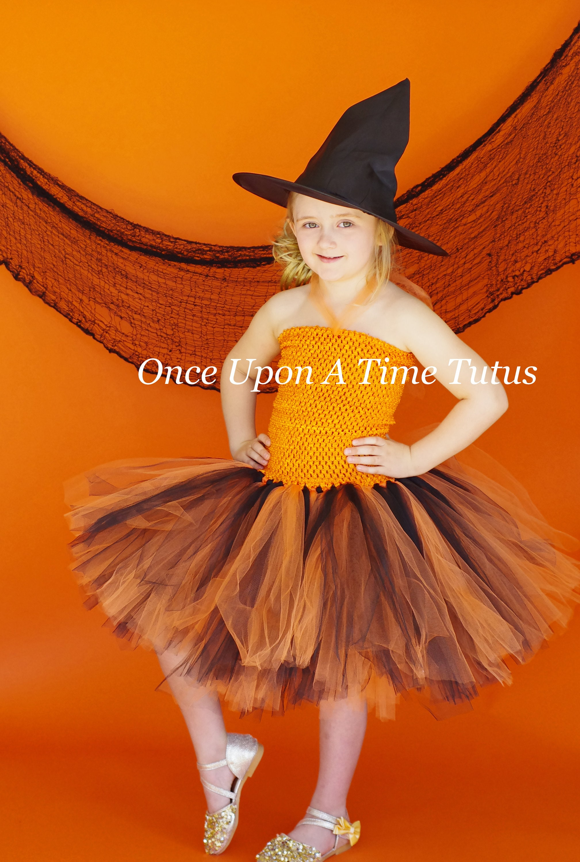 orange and black tutu dress halloween costume baby girl | etsy