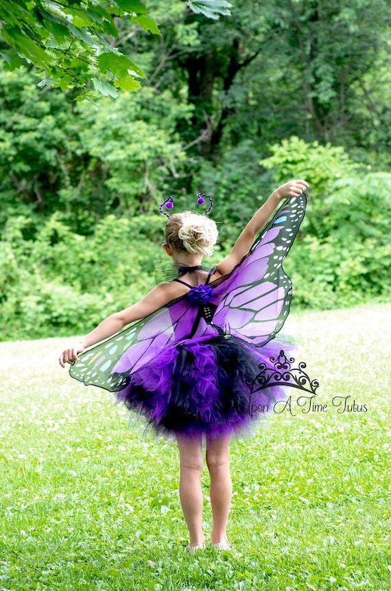 Kids Tutu Dress Purple Butterfly Costume Girls Monarch Butterfly Toddler Butterfly Costume Adult Butterfly Skirt Kids Butterfly Costume
