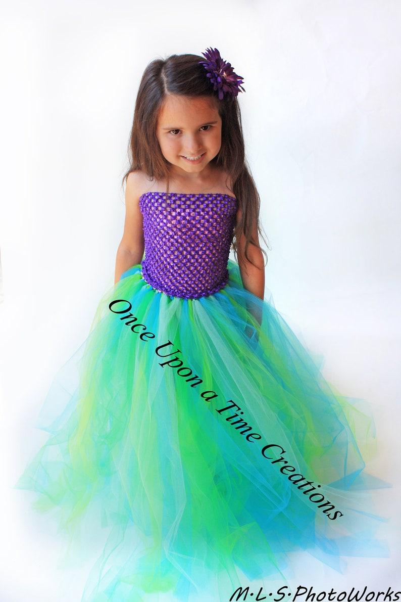 66b47226a80961 Ready To Ship Mermaid Tutu Dress Kids Birthday Outfit