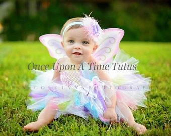Rainbow Fairy Tutu or Dress - Newborn 3 6 9 12 18 Months 2T 3T 4T 5 6  Kids Birthday, Halloween Costume, Baby Gift - Pretty Pink Butterfly