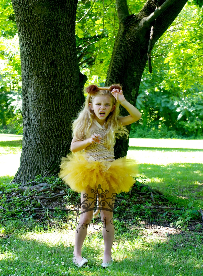 29a4427fe5 Lion Tutu Dress Halloween Costume Zoo Birthday Outfit Baby | Etsy