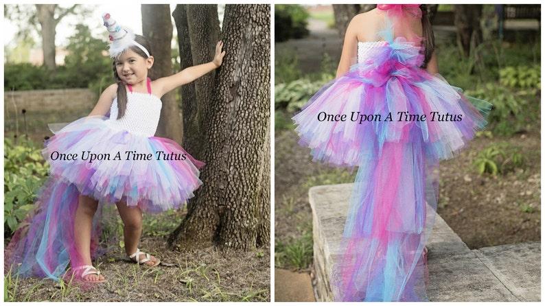 8ebc128a8176 Unicorn Bustle Tutu Dress Little Girls Size 6 12 Months 2T | Etsy